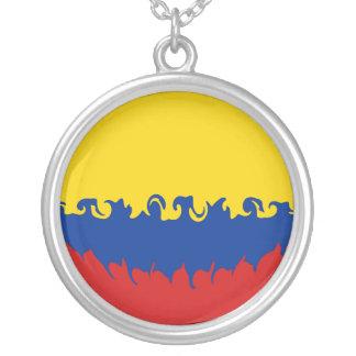Bandeira Gnarly de Colômbia Colares Personalizados