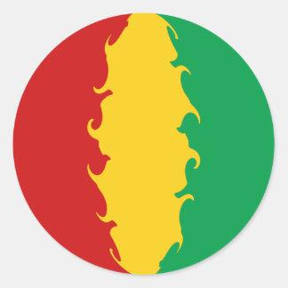 Bandeira Gnarly de Conakry da Guiné Adesivos Redondos
