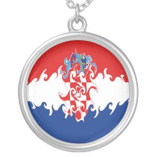 Bandeira Gnarly de Croatia Colar