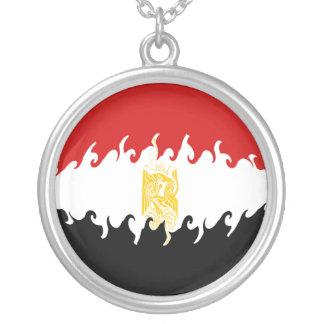 Bandeira Gnarly de Egipto Colar Com Pendente Redondo