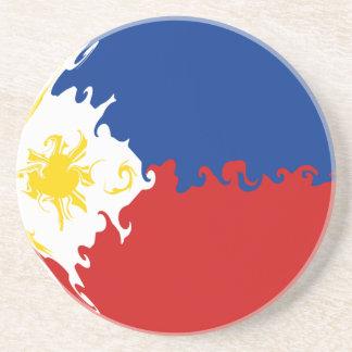 Bandeira Gnarly de Filipinas Porta Copos De Arenito