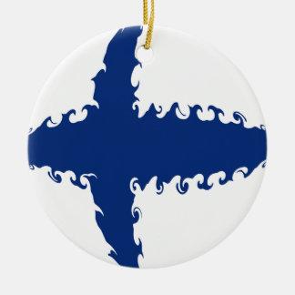 Bandeira Gnarly de Finlandia Ornamento Para Arvores De Natal