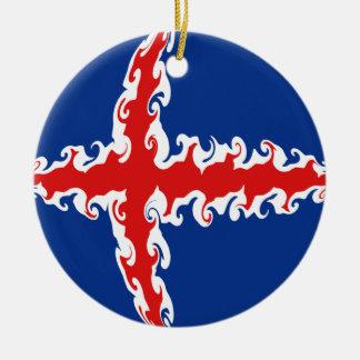 Bandeira Gnarly de Islândia Ornamentos Para Arvore De Natal