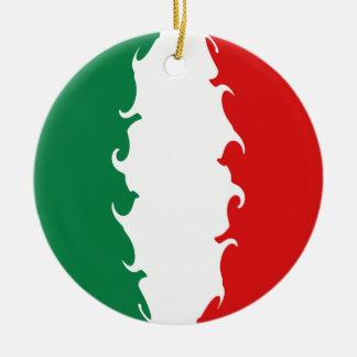 Bandeira Gnarly de Italia Ornamento De Cerâmica Redondo