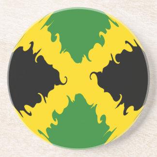 Bandeira Gnarly de Jamaica Porta Copos De Arenito
