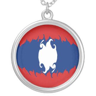 Bandeira Gnarly de Laos Colar Personalizado