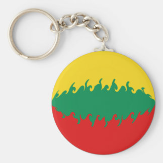 Bandeira Gnarly de Lithuania Chaveiro