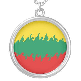 Bandeira Gnarly de Lithuania Bijuteria Personalizada