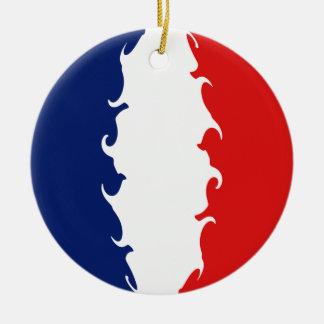 Bandeira Gnarly de Mayotte Ornamento De Cerâmica Redondo