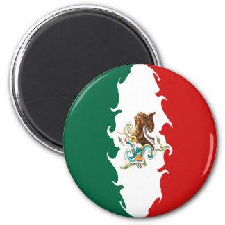 Bandeira Gnarly de México Ímã Redondo 5.08cm