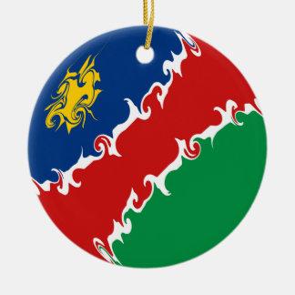 Bandeira Gnarly de Namíbia Ornamento De Cerâmica Redondo