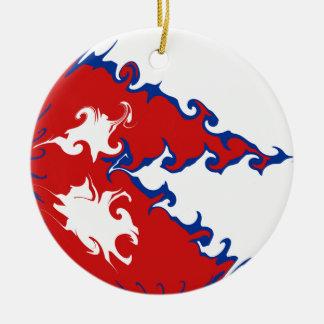 Bandeira Gnarly de Nepal Ornamento De Cerâmica Redondo