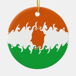 Bandeira Gnarly de Niger Ornamento De Cerâmica Redondo
