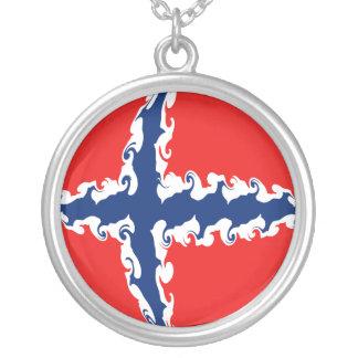 Bandeira Gnarly de Noruega Bijuterias Personalizadas