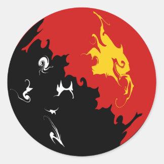 Bandeira Gnarly de Papuá-Nova Guiné Adesivos Redondos
