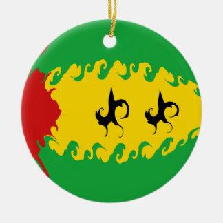 Bandeira Gnarly de Sao Tome and Principe Enfeites Para Arvores De Natal