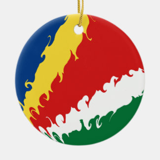 Bandeira Gnarly de Seychelles Enfeite Para Arvore De Natal