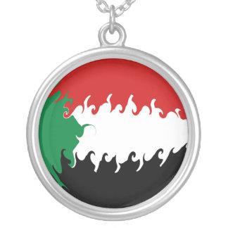 Bandeira Gnarly de Sudão Bijuteria Personalizada
