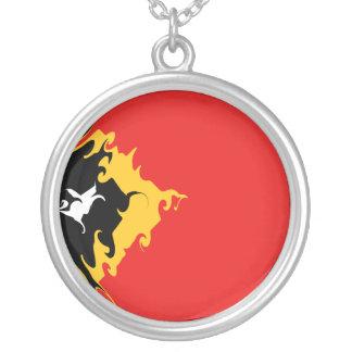 Bandeira Gnarly de Timor-Leste Colar Personalizado