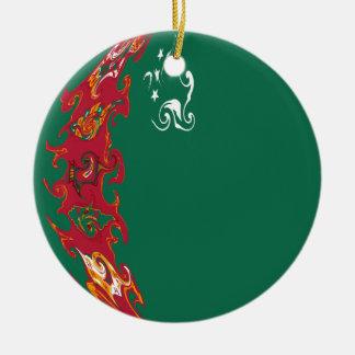 Bandeira Gnarly de Turkmenistan Enfeite De Natal
