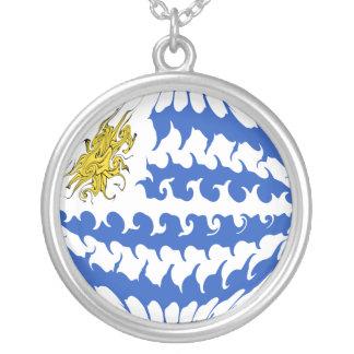 Bandeira Gnarly de Uruguai Bijuteria Personalizada