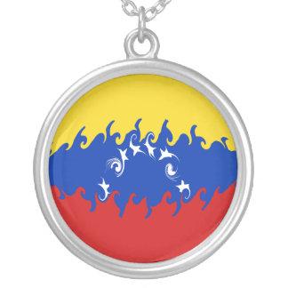 Bandeira Gnarly de Venezuela Colar Com Pendente Redondo