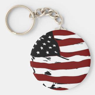 Bandeira-Gráfico americano Chaveiro