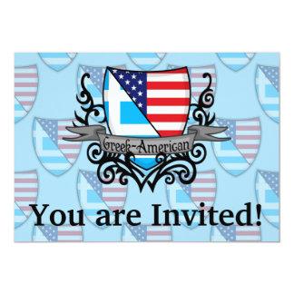 Bandeira Grego-Americana do protetor Convite 12.7 X 17.78cm