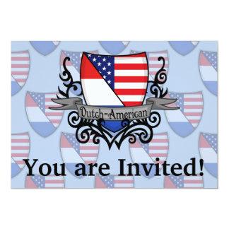 Bandeira Holandês-Americana do protetor Convite 12.7 X 17.78cm
