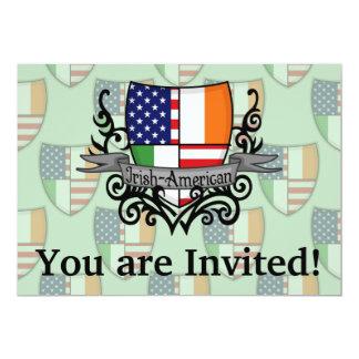 Bandeira Irlandês-Americana do protetor Convite 12.7 X 17.78cm