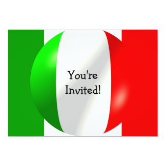 Bandeira italiana com convite da bolha