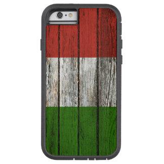 Bandeira italiana com efeito de madeira áspero da capara para iPhone 6 tough xtreme