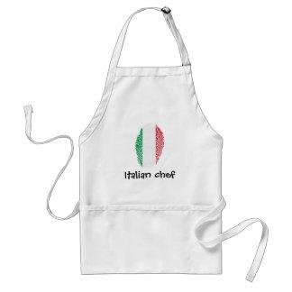 Bandeira italiana da impressão digital do toque avental