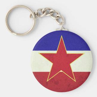 Bandeira Iugoslávia Chaveiro