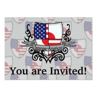Bandeira Japonês-Americana do protetor Convite 12.7 X 17.78cm