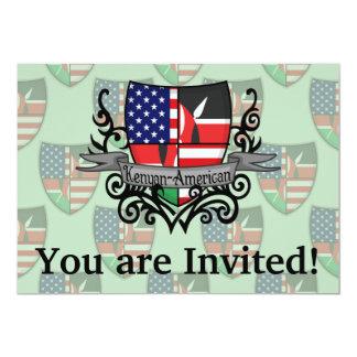 Bandeira Kenyan-Americana do protetor Convite 12.7 X 17.78cm