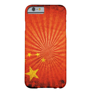 Bandeira legal do chinês do Grunge Capa Barely There Para iPhone 6