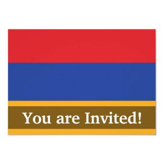 Bandeira lisa de Arménia Convite 12.7 X 17.78cm
