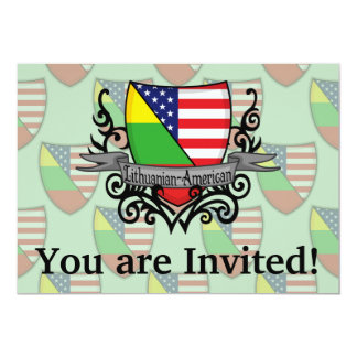 Bandeira Lituano-Americana do protetor Convite 12.7 X 17.78cm