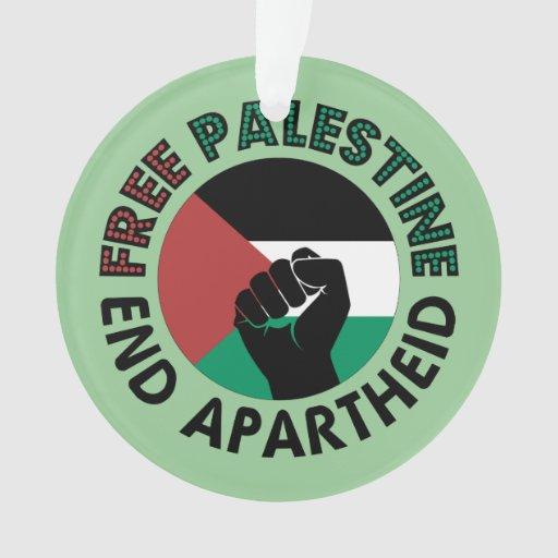Bandeira livre de Palestina do Apartheid do fim de