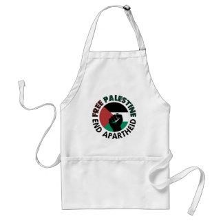 Bandeira livre de Palestina do Apartheid do fim de Avental
