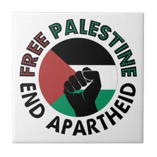 Bandeira livre de Palestina do Apartheid do fim de Azulejo Quadrado Pequeno
