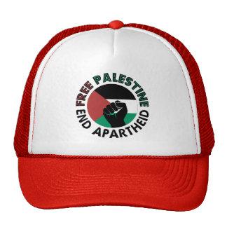 Bandeira livre de Palestina do Apartheid do fim de Boné