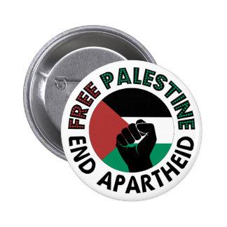 Bandeira livre de Palestina do Apartheid do fim de Bóton Redondo 5.08cm