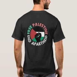 Bandeira livre de Palestina do Apartheid do fim de Camiseta