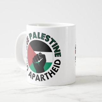 Bandeira livre de Palestina do Apartheid do fim de Jumbo Mug
