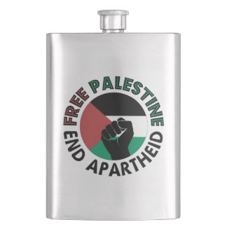 Bandeira livre de Palestina do Apartheid do fim de Cantil