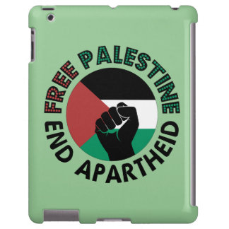 Bandeira livre de Palestina do Apartheid do fim de Capa Para iPad