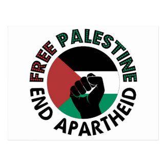Bandeira livre de Palestina do Apartheid do fim de Cartão Postal