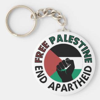 Bandeira livre de Palestina do Apartheid do fim de Chaveiro